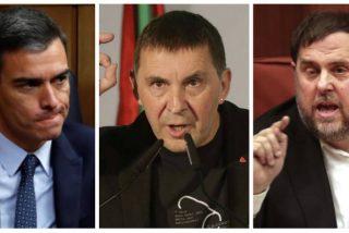 Así gobierna Sánchez: culpa al PP de sus pactos repugnantes con Otegi y de los chantajes del golpista Junqueras