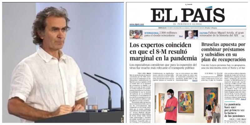 Fernando Simón 'ficha' por El País: el rotativo de PRISA culpa al Metro del aumento de casos por coronavirus