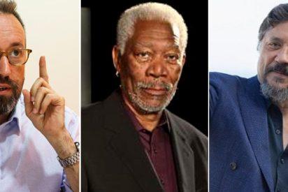 """El vídeo de Morgan Freeman que Girauta dedica al 'racista' Carlos Bardem: """"Del racismo se puede salir. ¡Ánimo, machote!"""""""
