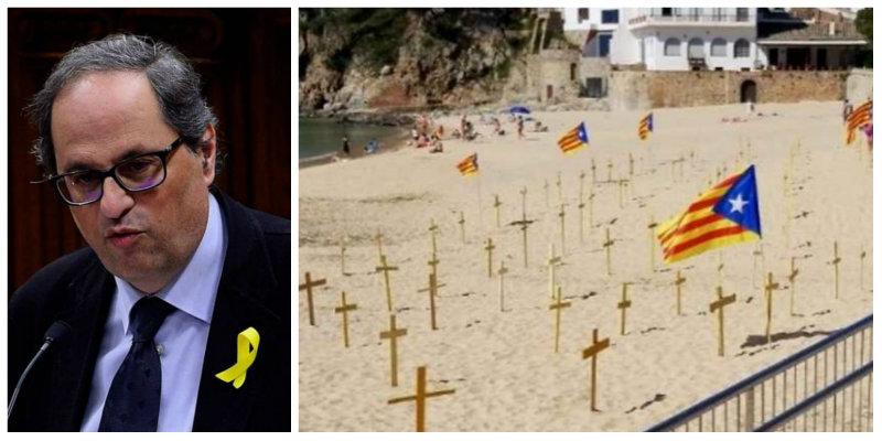 """Las redes arden con la petición de Torra de que los turistas españoles viajen a Cataluña: """"Quien vaya es gilipollas"""""""