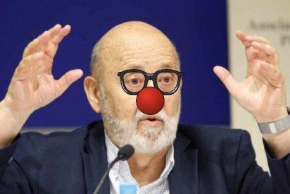 El socialista Tezanos, presidente del CIS y monaguillo de Sánchez, hace un ridículo 'tabernario'
