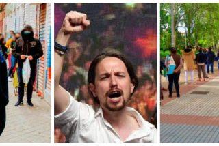 Esto no es la Venezuela chavista sino el barrio español de Aluche: colas inmensas para una bolsa de comida y una barra de pan
