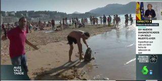 Un periodista de laSexta oculta su micrófono para informar 'de extranjis' en la playa y es agredido con un palo
