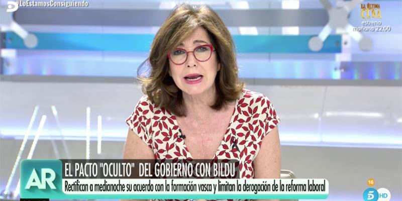 """Impresionante cabreo de Ana Rosa con Sánchez e Iglesias: """"¡Déjense ustedes de tonterías y de luchas políticas ruines!"""""""