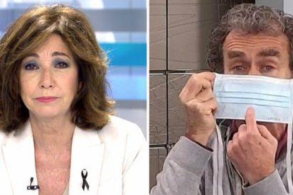 Ana Rosa protesta contra el cachondeo tétrico de Simón y Sánchez con las mascarillas