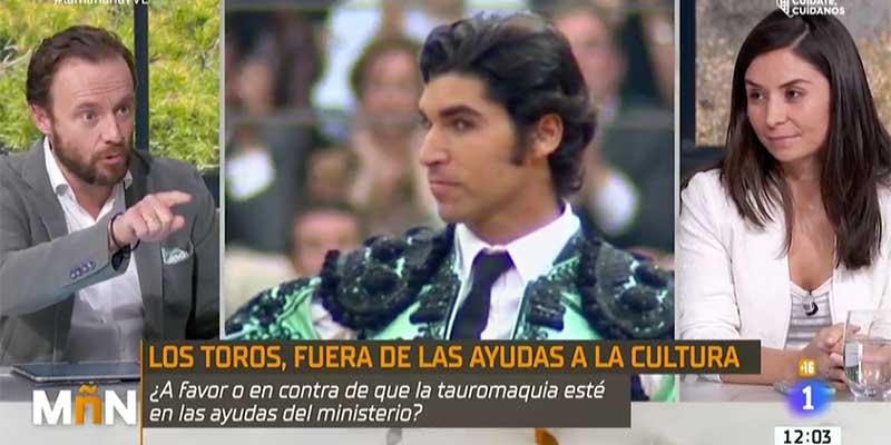 El portavoz de la Fundación del Toro de Lidia destapa en plena TVE la censura del ministro Uribes y el vicepresidente Iglesias
