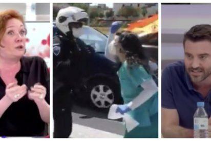 """Fallarás se traga el bulo de la enfermera 'fake' y Negre la remata: """"Tú alentaste el 8-M y todavía no has pedido perdón"""""""