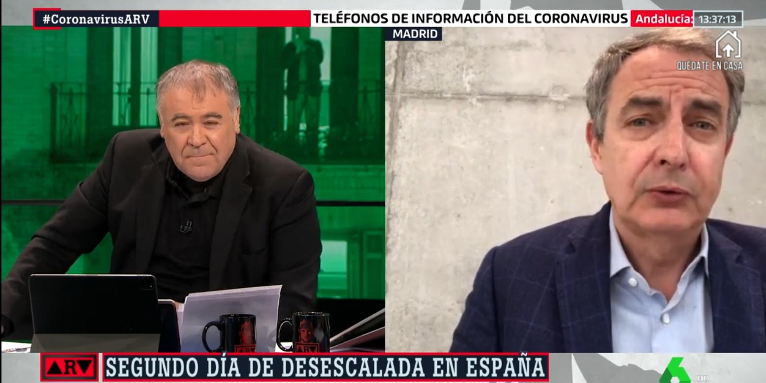 """Zapatero lo vuelve a hacer: augura 'brotes verdes' en la economía mientras felicita a laSexta por su """"veracidad"""""""