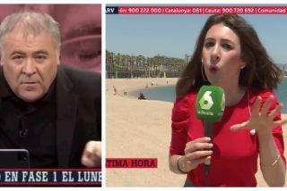 El Quilombo / Un rabioso Ferreras llama 'tontos de la ultraderecha' a los que se burlaron de él por las playas