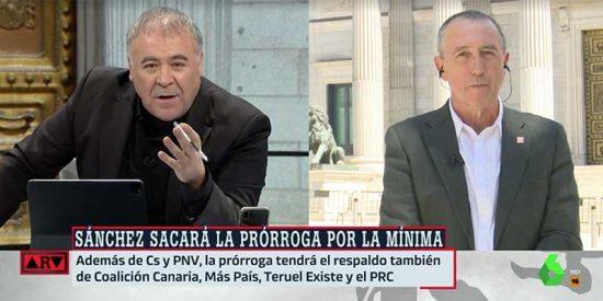 """En laSexta escuece la fractura de la izquierda: acusan a ERC de """"chantaje al Gobierno"""" y exigen a Compromís que """"se justifique"""""""