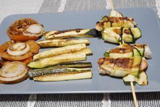 Brochetas de gambón con calabacín: receta express