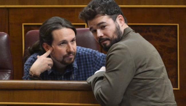 """La nueva sandez de Rufián: Los jueces """"prevarican"""" por imputar a Iglesias y los pobres son inmunes al COVID-19"""