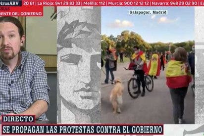 """Iglesias amenaza tras el escrache a su mansión: """"Mañana otros irán a la puerta de la casa de Ayuso o a la de Abascal"""""""