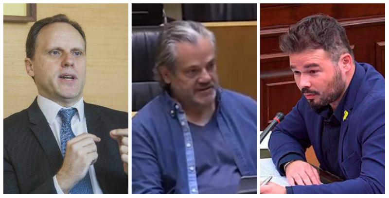 """De Quinto y Lacalle ajustan las cuentas a Rufián por su """"analfabeta"""" propuesta para Nissan"""
