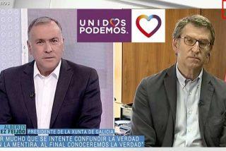 TVE es noticia (negativa) diaria: su lazo negro por el luto oficial es subliminalmente calcado al logo de Podemos