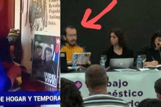 Contubernio: La limpiadora que quitaba el polvo al retrato de Fidel Castro en TVE apareció sentada antes con Echenique