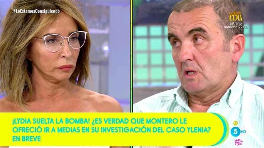Bronca sin precedentes minutos antes de empezar 'Sálvame' entre María Patiño y Antonio Montero