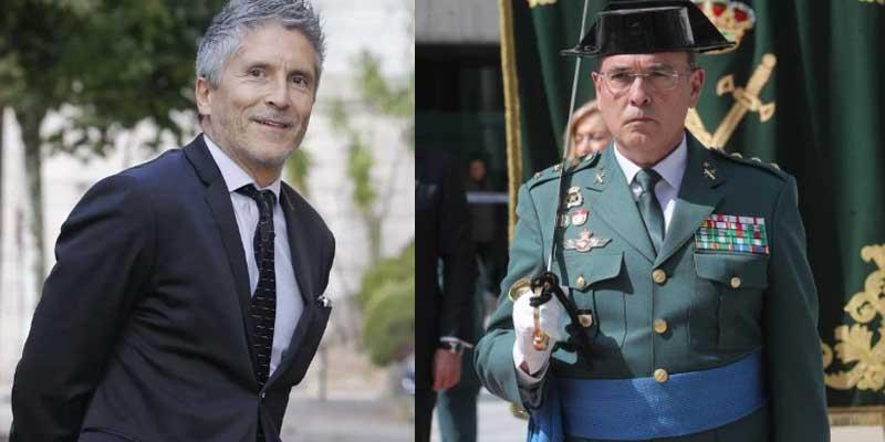 Marlaska fulmina al jefe de la Guardia Civil de Madrid en plena investigación del 8-M, que señala a Fernando Simón