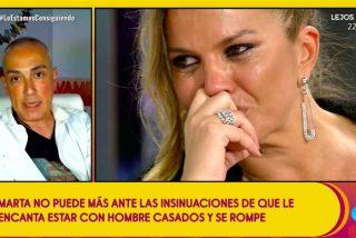 Bronca histórica entre Kiko Hernández y su 'amiga' Marta López: ¿Es todo un montaje?