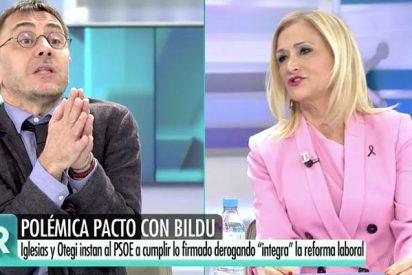 Monedero y Cifuentes, a voces en Telecinco: