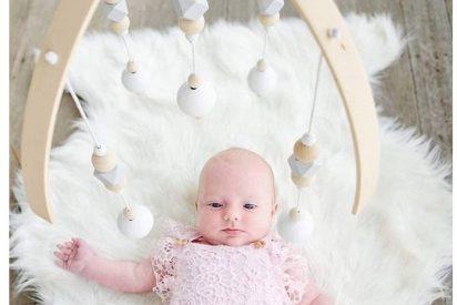 Móviles para cuna bebé artesanales