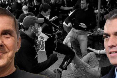 Los coqueteos de Sánchez con Bildu y de Marlaska con los presos etarras desembocan en episodios de kale borroka en Pamplona