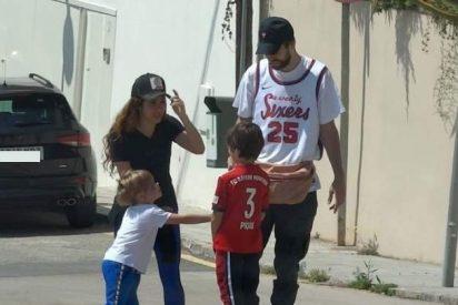 Cazan a Piqué saltándose la ley, pero esta vez es más grave: junto a Shakira y a sus hijos