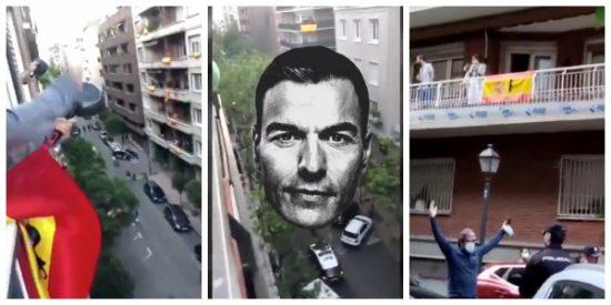 Estado policial: Marlaska envía a la Policía a vigilar una monumental cacerolada en Madrid donde exigían la dimisión de Sánchez