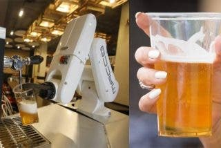 Así es el robot sevillano que sirve600 cervezas por hora y evita los contactos de riesgo por coronavirus