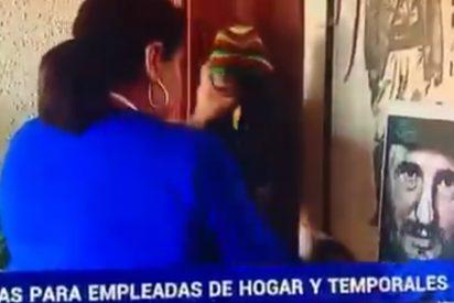 El último despropósito de la soviética RTVE: ilustra las ayudas a las empleadas del hogar con la imagen de Fidel Castro