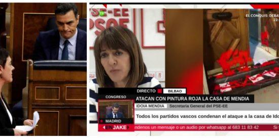 Sánchez no tiene principios: se entrega a esos mismos proetarras de Bildu que amenazan de muerte a la líder del PSOE vasco