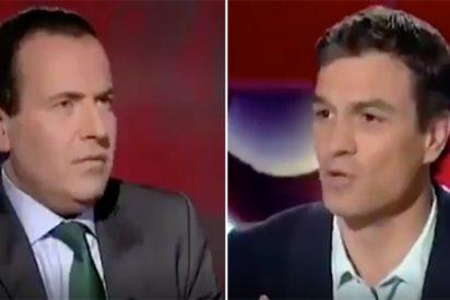 """El infame bochorno de Sánchez en 2015 negando a Bildu en TV: """"¡Si quiere se lo repito 20 veces!"""""""