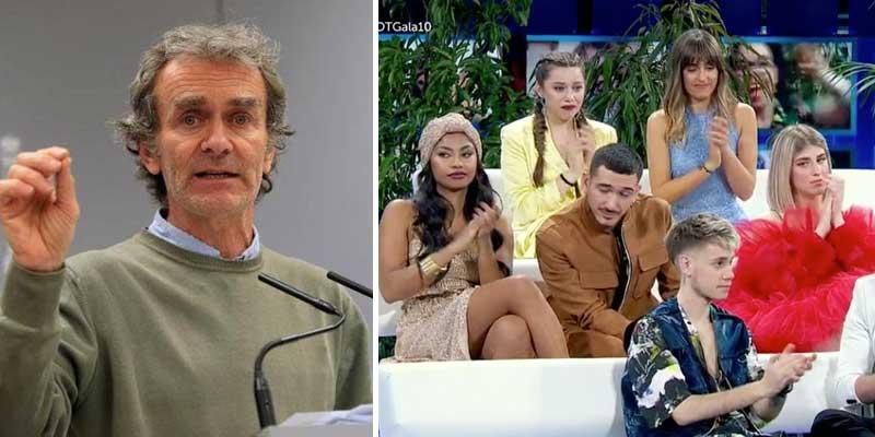 'OT' (TVE) es otro instrumento del régimen: su presentador y los concursantes blanquean a Fernando Simón