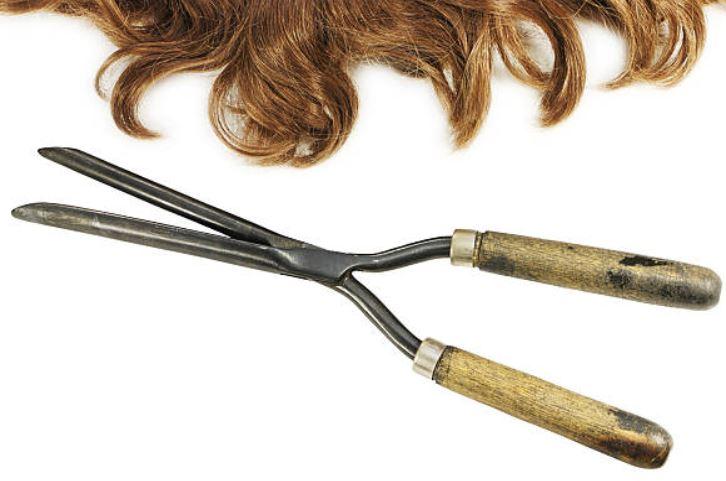 tenacillas de pelo antiguas