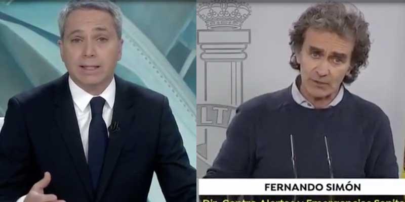 Vicente Vallés deja para el arrastre a Fernando Simón y al Gobierno por sus continuos bandazos con el uso de mascarillas