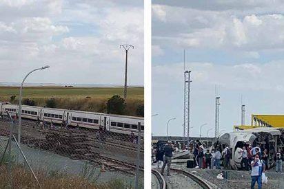 Dos muertos al chocar el Alvia Ferrol-Madrid contra un coche que cayó a la vía