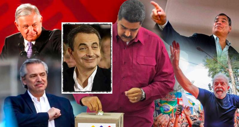 El socialista Zapatero maniobra con lo peor de la izquierda iberoamericana para salvar al dictador Maduro