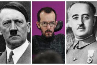 El 'hooligan' Echenique se abalanza contra el ABC para tapar los escándalos del Gobierno y rescata a Franco y Hitler