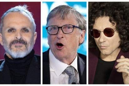Bunbury y Miguel Bosé, unidos para acusar a Bill Gates de querer dominar el mundo