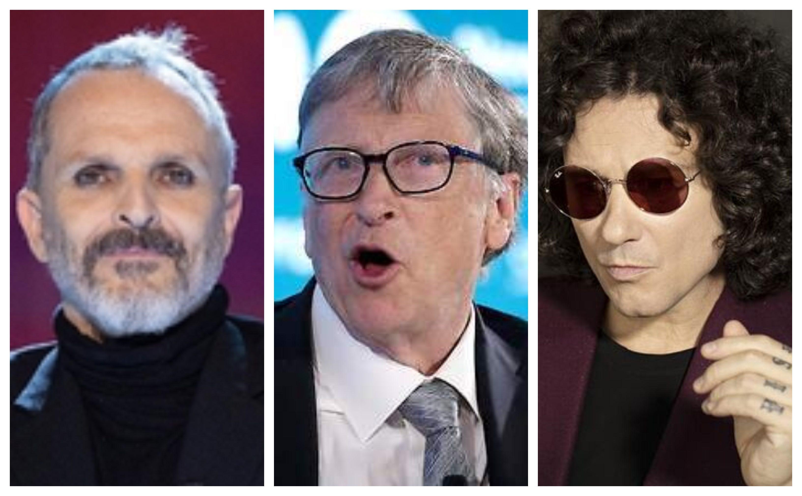 Bunbury y Miguel Bosé, unidos para acusar a Bill Gates de querer ...