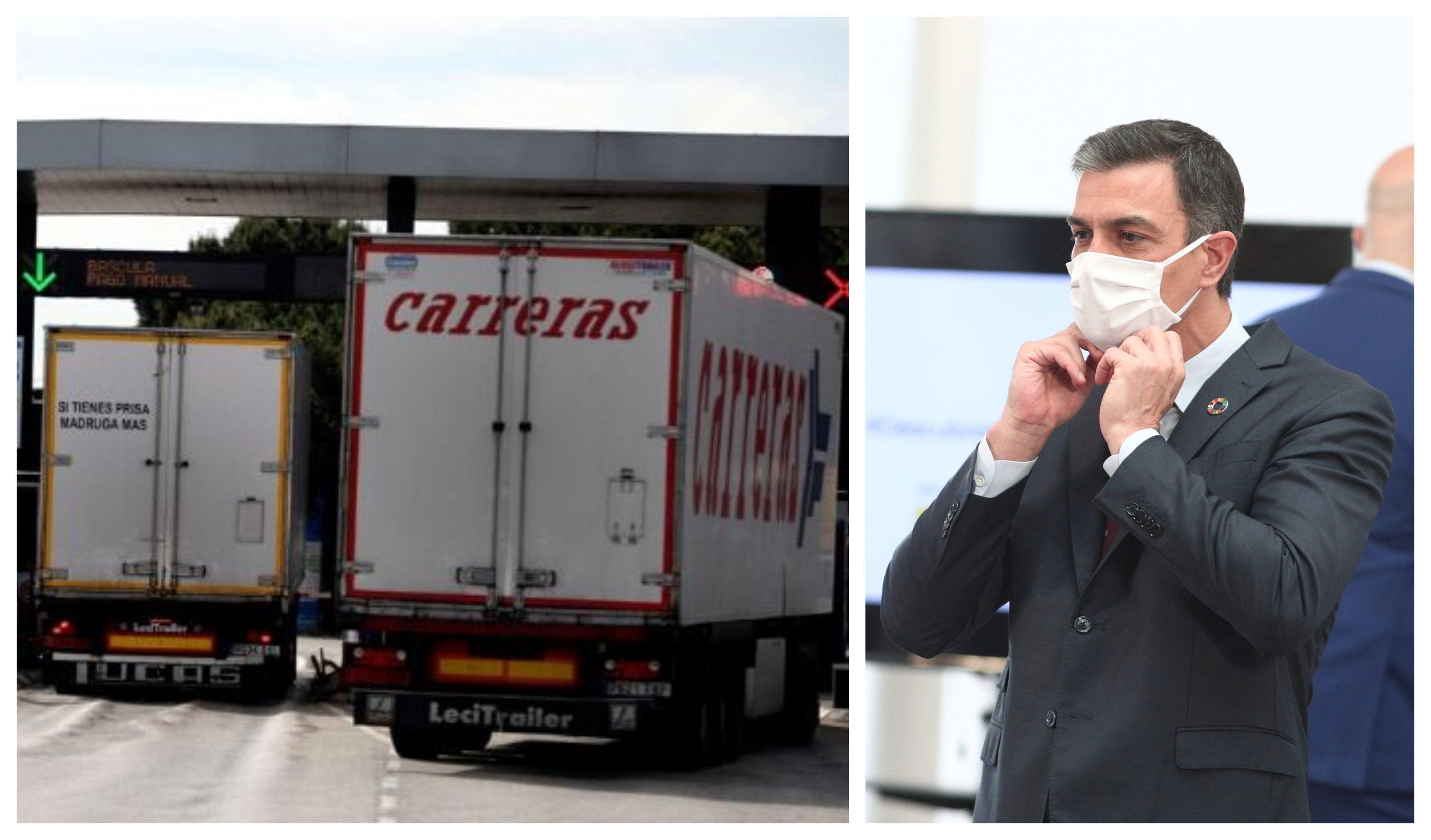 Los camioneros anuncian paros ante la inoperancia de Sánchez