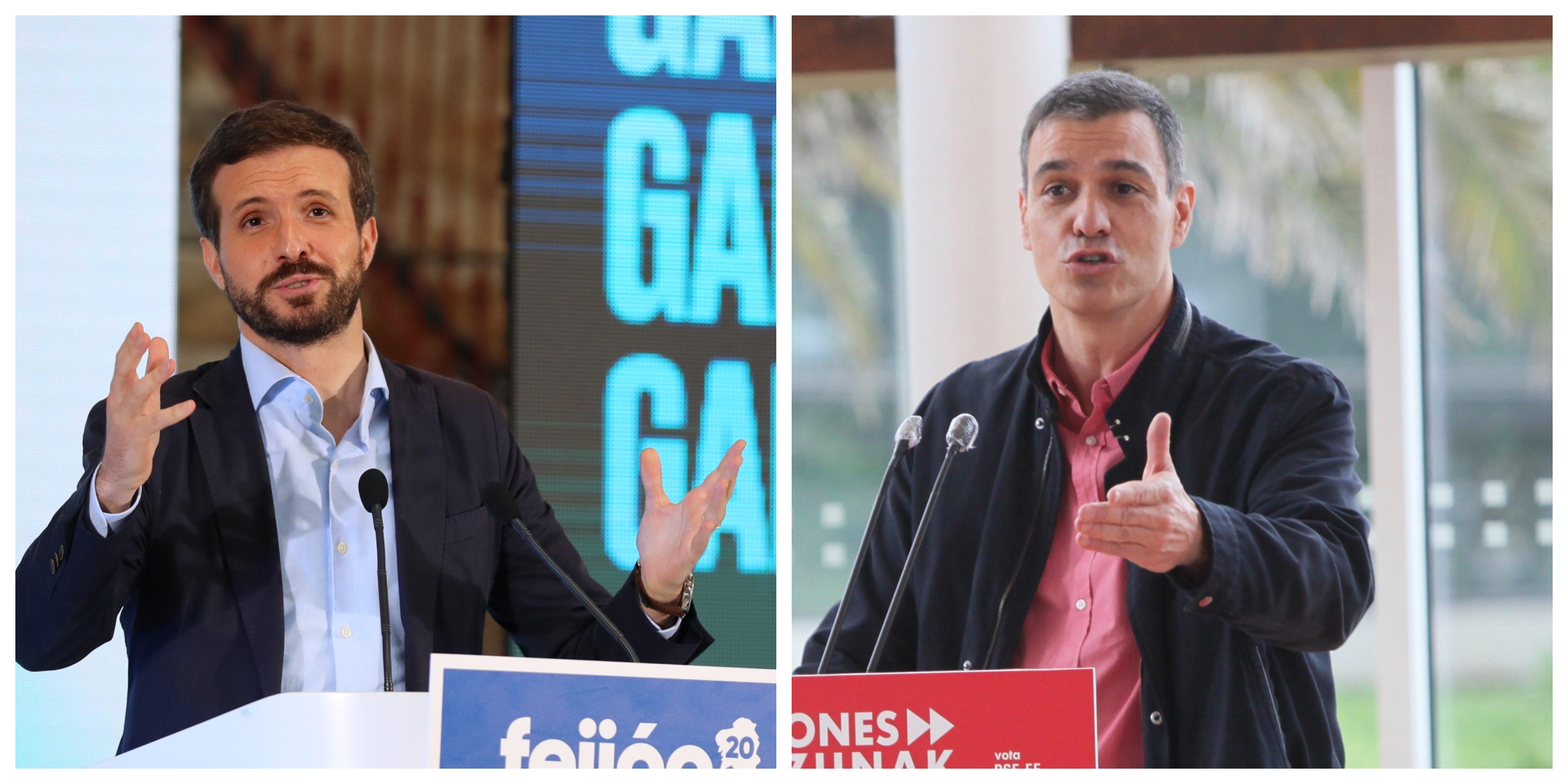 """Pablo Casado amarga el viaje a Pedro Sánchez: """"¿Viene a Galicia a insultar a Feijóo?"""""""