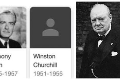 Google censura a Churchill de su lista de primeros ministros británicos y las redes enfurecen en Reino Unido