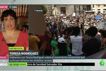 La lumbreras Teresa Rodríguez pide demoler estatuas de Colón pero no se atreve con los esclavistas musulmanes de Al-Andalus