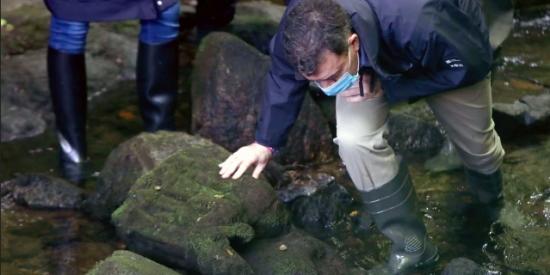 Galicia: un pescador encuentra en el fondo del río una talla gótica de una virgen
