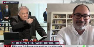 El Quilombo / Ferreras cuela al comunista que le regaló la 'beca black' a Errejón para que felicite a Sánchez por freírnos a impuestos