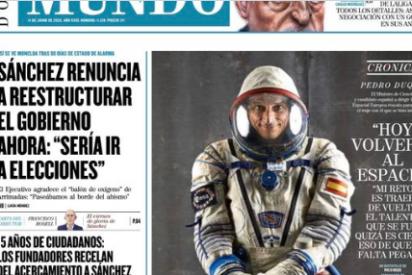 Twitter pone en órbita a Pedro Duque por prestarse a una foto de vergüenza ajena