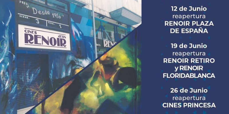 Cine en tiempos de coronavirus: vuelve Cines Renoir el viernes 12 de junio