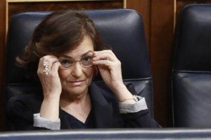 La 'jeta' Carmen Calvo acusa a las comunidades autónomas del retraso en el pago de los ERTE