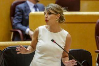 Yolanda Díaz amenaza con cargarse el teletrabajo incitando al odio a las empresas que lo aplican